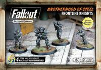 Fallout Wasteland Warfare Miniatures Brotherhood Of Steel Frontline Knights New