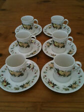 SET x6 ROYAL DOULTON MIRAMONT T.C.1022 DEMITASSE COFFEE CUPS & SAUCERS