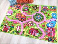 Kids Boy Girl Rug Carpet Play Mat For Bedroom Playroom Nursery  Multi-Color