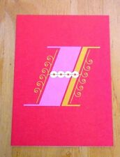 JESSICA HISCHE TYPOGRAPHIC POSTCARD ~ DAILY DROP CAPITAL LETTER I ~ RED ~ NEW