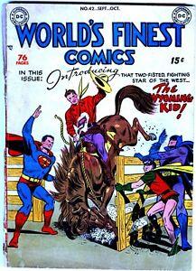 Golden-Age WORLD'S FINEST COMICS #42, #59, #61-62, #64, #66, #70
