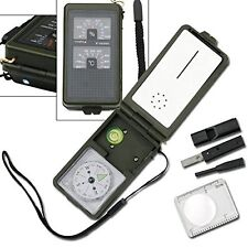 Multi Function Emergency SURVIVAL KIT - 10 Functions - Compass, Fire Starter etc