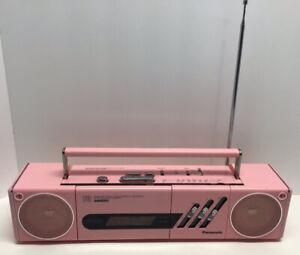 Vintage Very Rare PINK Panasonic RX-F3 Boombox Compact Portable Stereo - Japan