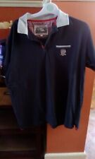 Cotton Traders Classics England Rugby Dark Blue Polo Shirt Size Large