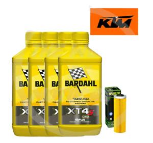 TAGLIANDO KTM 1190/RC8 2009/2010/2011/2012 BARDAHL XT4-S 10W50 FILTRO OLIO