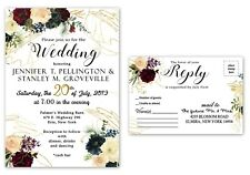 Wedding Invitations With Rsvp Set Of 75 Personalized Custom Invites