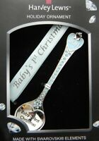 Christmas Tree Ornament Baby Spoon 2011 Made WSwarovski Crystal Harvey Lewis NEW