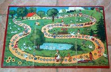 Alter Spielplan Gänsespiel Kinder Gänse Bauernhof See Ziege