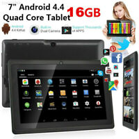 """F942 7"""" inch A33 Android 4.4 Tablet PC Quad Core WiFi DUAL CAMERA 16GB US Black"""