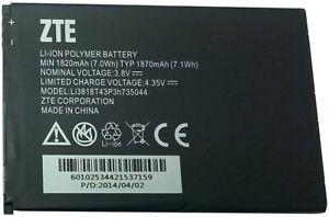 ZTE OEM Lithium-Ion Polymère Portable Batterie 3.8V 1820mAh Li3817T43P3h735044