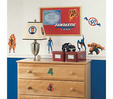 Wall Sticker 20+ pc FANTASTIC FOUR Reusable Children Room Decor NIP