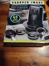 New Sharper Image Portable Electronic Key Finder 45 Ft. Range Two Key Sets