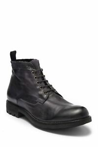 Kenneth Cole New York Men Combat Boots Design 10715 Anthracite Leather