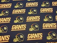 """NEW YORK GIANTS NFL  60"""" WIDE  1/2  YARD  PIECE  NEW!!! 100% COTTON GREAT FABRIC"""