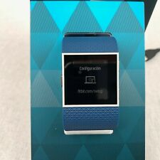 Fitbit Surge Fitness Super Watch Wrist Smart Activity Tracker Blue GPS Large