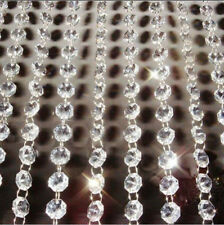 6.6FT Garland Strand Hanging Crystal Glass Bead Curtain Chains Centerpiece Decor
