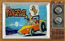 """FANGFACE TV Fridge MAGNET  2"""" x 3"""" art SATURDAY MORNING CARTOONS"""
