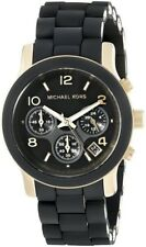 Michael Kors Original MK5191 Women's PU Black Stainless Steel Chronograph Watch