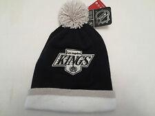 MITCHELL & NESS NHL LOS ANGELES KINGS STRIPE CAP LOGO KNIT WINTER HAT BEANIE
