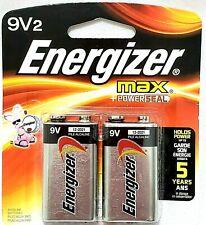 9V ENERGIZER MAX POWER SEAL ALKALINE BATTERIES 9 VOLT  2 PACK-BUY MOR SAVE MOR