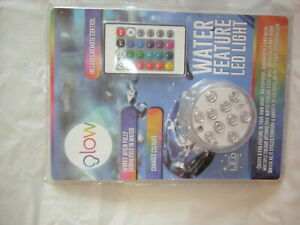 WATER FEATURE LED LIGHT AND REMOTE CHANGES COLOUR BRAND NEW WITH TAGS