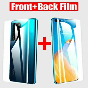 Front + Back Hydrogel Screen Protector For Huawei P20 P30 P40 Pro Mate 30 Lite