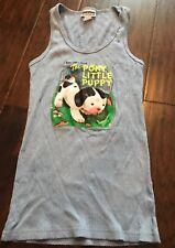 Juniors Blue A Little Golden Book The Poky Little Puppy Graphic Tank Top Shirt X
