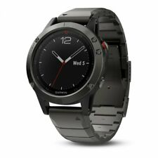 Garmin fenix 5 Multisport Watch Slate Gray Sapphire with Metal Band 010-01688-20