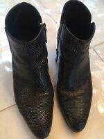 Guiseppe Zanotti Black Leather Booties 38