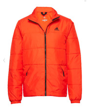 ADIDAS Mens Orange Performance BSC 3 Stripe Insulated Padded Jacket Small BNWOT