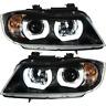 Scheinwerfer Set 3D U LED Angel Eyes für BMW 3er E90 E91 Bj. 05-08 Limo Touring
