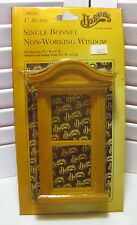"Houseworks Single Bonnet Non-Working Window #5060 1"" Scale Vintage Doll House"