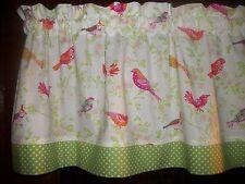 Birds Dogwood Flowers Polka Dots waverly fabric kitchen curtain topper Valance