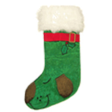 Kyjen Dog Holiday Stocking-Green