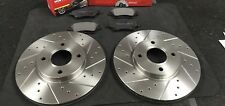 FORD FIESTA 1.6 ST180 BRAKE DISC CROSS DRILLED FRONT MINTEX BRAKE PADS 278MM