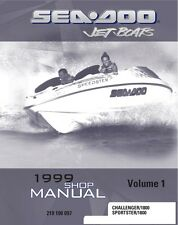 New listing Sea-Doo 1999 Challenger & Sportster Shop Repair Manual Paperback Bound Book