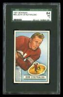 1951 Bowman #69 John Strzykalski San Francisco 49ers SGC 84 / 7 NM