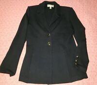 St. John Collection Black Santana Knit Blazer Style Jacket! 2 XS Suit Pockets
