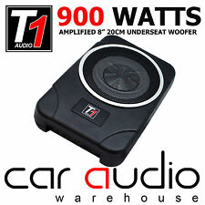 "900 WATTS 8"" Active Underseat / Under Seat Car Sub Box / Subwoofer & Amplifier"