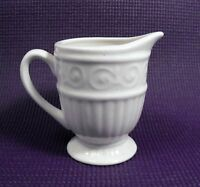 "Gibson Everyday ""Claremont"" China  Creamer  White Scroll Pattern"