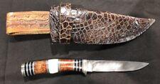 US Custom Hand Made NORMAN P. BARDSLEY  Damascus huntingFighting Knife & Sheath