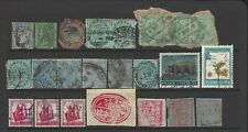 India stamps 1850s-1920s a group of mint and used stamps
