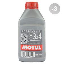 Motul DOT 3 & 4 Brake Fluid Fully Synthetic 3 x 500ml 1.5L