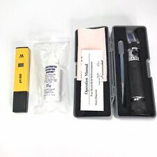 Milwaukee PH 600 Tester and Portable Refractometer w Hard Case & Calibration