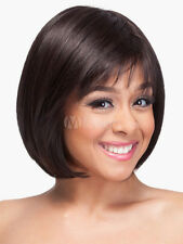 100% Human Hair! Dark Brown Women's Wigs Short Bobs Wig
