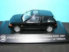 Honda Civic1987 in Black with Dark Grey interior 1:43  Diecast Triple 9  model