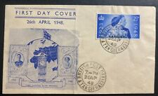 1948 Tanger British Morocco first day cover King George VI Royal Silver Wedding