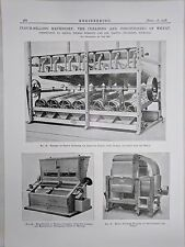 Flour Milling Machinery: Cleaning, Conditioning: 1908 Engineering Magazine Print