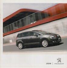 Peugeot 5008 2010-11 UK Market Sales Brochure Active Sport Exclusive