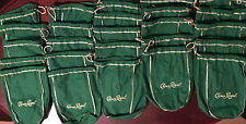 25 CROWN ROYAL APPLE GREEN FELT BAG 1 LITER  SIZE